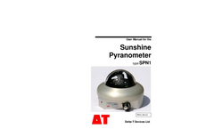 Type SPN1 - Sunshine Pyranometer - User Manual
