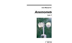 Type AN1 - Anemometer - User Manual