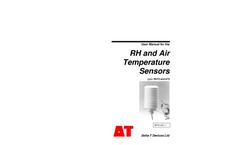 Types RHT2 and AT2 - RH and Air Temperature Sensors - Manual