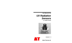 Types UV3pA, B and AB - UV Radiation Sensors - Manual