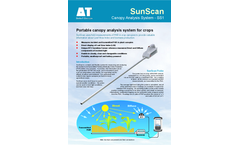 Delta-T SunScan - Model SS1 - Canopy Analysis System - Datasheet
