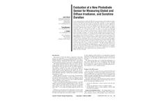 BF Sunshine Sensor Evaluation - Technical Datasheet