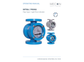 Mecon FI - Model INTRA / PRIMA - Robust and Reliable Flap-type or Sight Flow Indicator for Clear Liquids - Manual