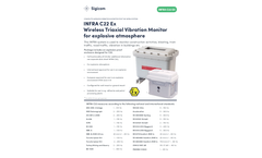 INFRA - Model C22 Ex - Wireless Triaxial Vibration Monitor for Explosive Atmosphere - Datasheet
