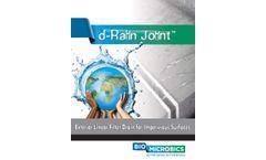 d-Rain Joint - Rainwater Filter Drain - Brochure