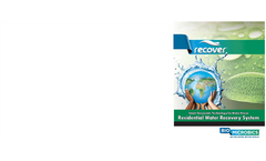 Recover - Residential Water Recovery System - Specifications