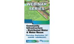 Community Infrastructure – Distributed Water & Water Reuse - Webinar