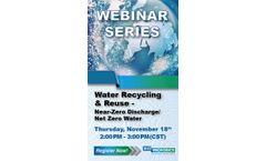Water Recycling & Reuse – Near-Zero Discharge/Net Zero Water - Webinar