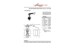 Lance - Model LGBV-3000 Series 300 WOG - Grooved End Butterfly Valve with Lever Handle Brochure