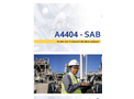 Model A4404 SAB - 4-Channel Pocket Size Vibration Analyzer Brochure