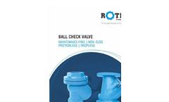 Ball Check Valve Brochure