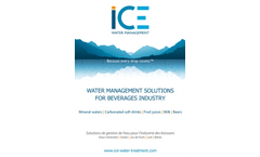 ICE WATER MANAGEMENT - SOLUTIONS FOR BEVERAGES INDUSTRY