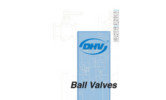 DHV - 2-Piece Trunnion Mounted Ball Valve - Brochure