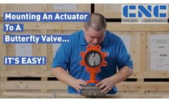 Mounting a Pneumatic Actuator to a Butterfly Valve. It`s Easy - Video