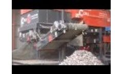Ecohog HogMag HM ECS-1500 Working with a Powerscreen 1400 Warrior in Aluminium & Steel Recovery