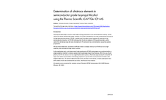 Determination of ultratrace elements in semiconductor grade Isopropyl Alcohol using the Thermo Scientific iCAP TQs ICP-MS - Application Note