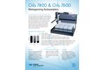 Teledyne CETAC - Models Oils 7400 and Oils 7600 - Homogenizing Autosamplers - Brochure