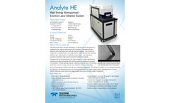 Teledyne CETAC - Model Analyte HE - High Energy Excimer Laser Ablation System - Flyer