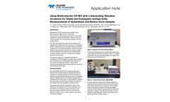 Using Multicollector ICP-MS with a Desolvating Nebulizer Accessory for Stable and Radiogenic Isotope Ratio Measurements of Speleothem and Marine Coral Samples - Application Note