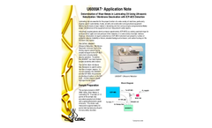 Determination of Wear-Metals in Lubricating Oil Using Ultrasonic Nebulization / Membrane Desolvation with ICP-AES Detection - Application Note