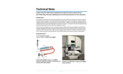 A New Compact Inductively Coupled Plasma Optical Emission Spectrometer (ICP-OES) Using Ultrasonic Nebulization for Enhanced Detection of Trace Elements - Technical Note