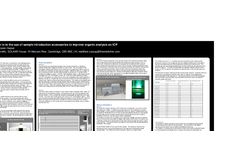An investigation in to the use of sample introduction accessories to improve organic analysis on ICP - Application Note