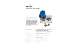 Model T Series - Industrial Vertical Sump Pump Brochure