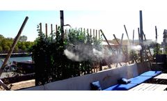 Misting system for outdoor cooling