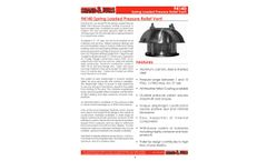 Shand & Jurs 94140 Spring Loaded Pressure Relief Vent (Spring Closed) - Datasheet