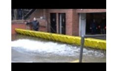 FloodBreak Passive Flood Barriers Deploy Automatically at Customer Location - January 2013 Video