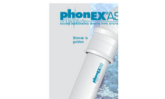 phonEX - Model AS - Sound Absorbing Waste Pipe System Brochure