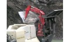 Mobile Boom on Metso crusher Video