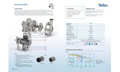 Packo - Model RMO Series - Pump for Milk Collection for Trucks and Trailers - Datasheet