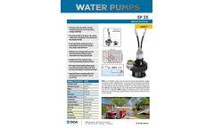 doa - Model SP 35 - Hydraulic Trash Pump Brochure