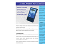 Atomtex - Model AT2503 and AT2503A - Personal Dosimeter  Brochure