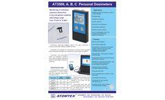 Atomtex - Model AT3509, AT3509A, AT3509B, AT3509C - Personal Dosimeters - Datasheet