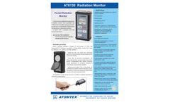 Atomtex - Model AT6130, AT6130A, AT6130D - Pocket Radiation Monitors - Brochure