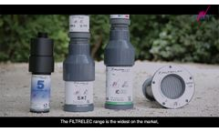 FILTRELEC rechargeable filtration system for hydrocarbon polluted water in containment bunds - Video