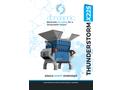 Thunderstorm - Model X225 - Single Shaft Shredder Machine - Datasheet