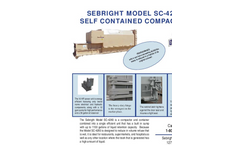 Sebright - Model SC-4260 - Self Contained Compactor (2 Cubic Yard Capacity) - Brochure