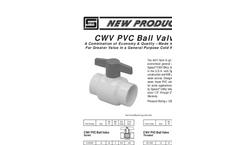 CWV PVC Ball Valves- Brochure