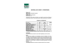 ICEA - Oil Absorbent Sheets - Data Sheet