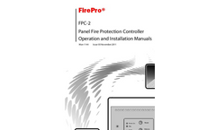 FirePro - Model FPC-2 - Panel Fire Protection Controller Brochure