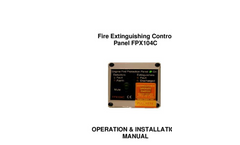 Model FPX104C - Fire Extinguishing Control Panel Brochure