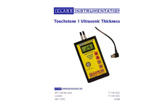 Touchstone - Model 1 - Ultrasonic Thickness Gauge Brochure