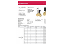 Buschjost - Model 82540 Series - Brass Solenoid Valve - General Purpose - Datasheet
