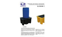 Model SJ-100-050/SJ-100-051 - Drum Spill Pallet - Technical Datasheet