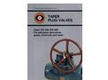 Model 9 - Low Pressure Taper Plug Valve Brochure