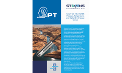 Stevens SmartPT - Model SDI-12 / RS-485 - Pressure, Temperature and Digital Crest Gauge Sensor - Brochure