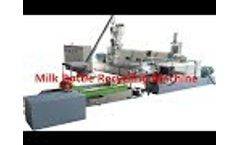 Crushed Rigid Plastic Recycling Extruder